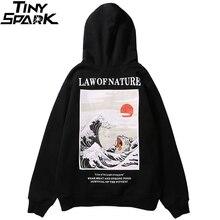 Stickerei Lustige Katze Hoodies Sweatshirt Männer Hip Hop Winter Fleece Pullover Schwarz Retro Hoodie Streetwear Casual Baumwolle Herbst 2019