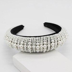 Image 3 - Nouveau Baroque européen et américain industrie lourde mode sauvage strass perle métal fleur tempérament luxe bandeau 885