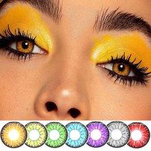 2 шт/пара Цвет ed контактные линзы для глаз Вика tri серии Контактные