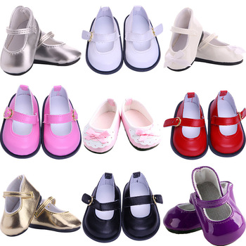 Bow Lace Leather Doll Shoes Baby Born