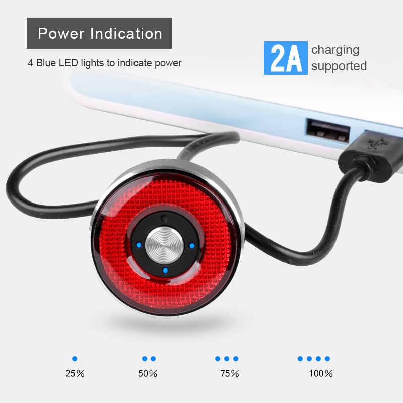 Тормоза велосипедные лампы высокого качества IP65, водонепроницаемые, 2A зарядка 50 часов работы, корпус из сплава, индикация громкости батареи Q5 Light