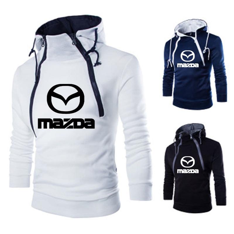Spring Autumn Hoodies Men Mazda Car Logo Print Sweatshirt Double Strand Men Hoodie Hip Hop Harajuku Casual Hoody Tracksuit