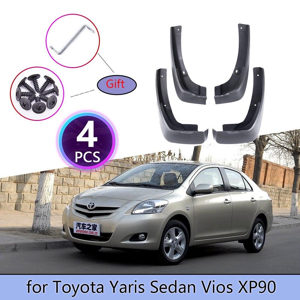 4PCS Lamas Do Carro Para Toyota Yaris Sedan Vios Belta Limo XP90 2008 ~ 2013 Revestimento Mud Flaps Respingo guarda Mudflap Acessórios