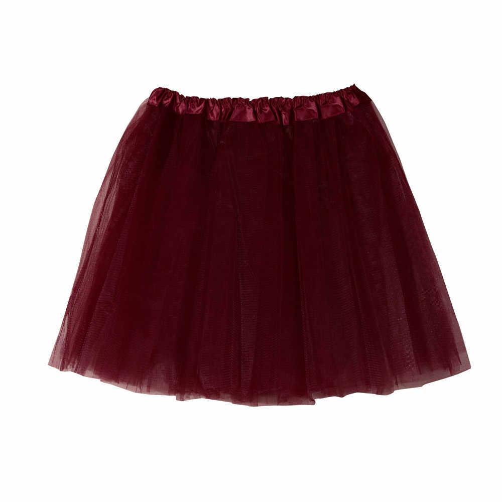 נשים 3 שכבה אלסטי אלסטי מותניים תחתוניות מוצק צבע קצר תחתונית רך טול רשת נפוח טוטו חצאית לחתונה שמלה