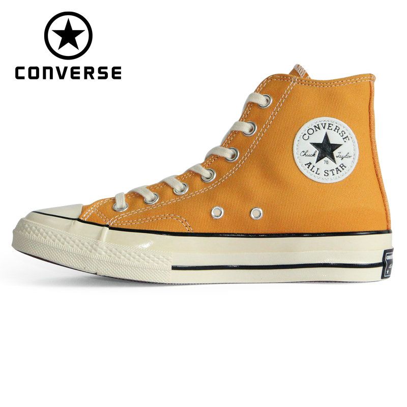 Original Authentic Converse CHUCK 70 Retro Version 1970S All Star Shoes Unisex Sneakers Yellow Skateboarding Shoes 162054C