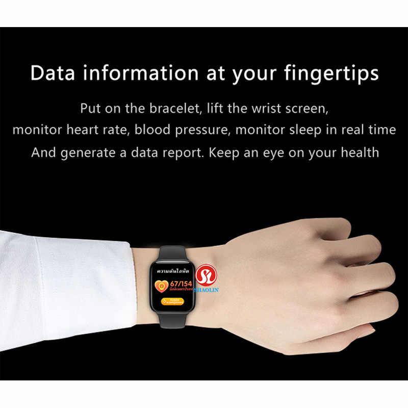Delle Donne degli uomini di Smart Orologio Serie 5 Bluetooth Smartwatch per Apple osservare iOS iPhone Android Smart Phone Aggiornamento IWO Inseguitore di Fitness