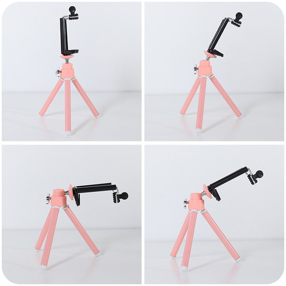 Telescopic Design Aluminum Alloy Tripod Bracket Portable Phone Holder Stand @