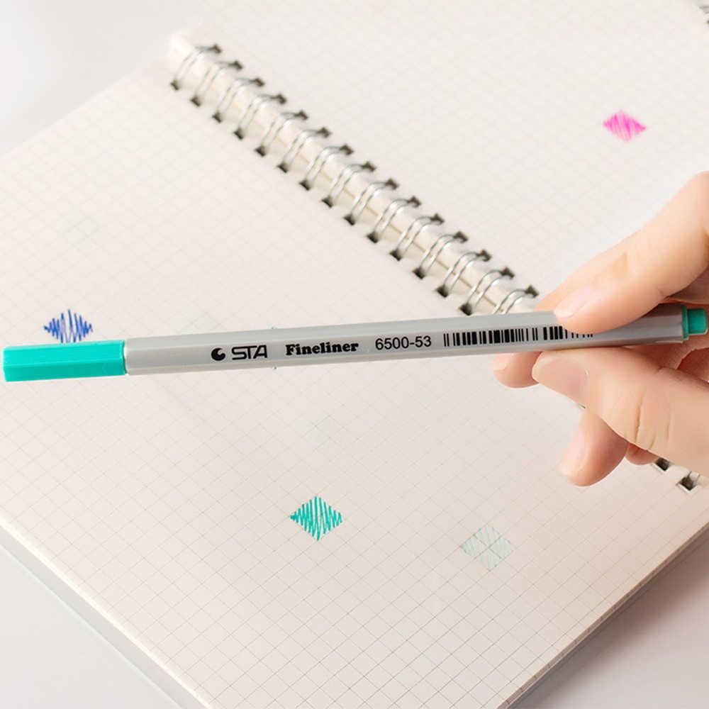 17 couleurs 0.4mm Fine ligne dessin stylo pour Manga dessin animé publicité conception eau couleur stylos papeterie bureau fournitures scolaires