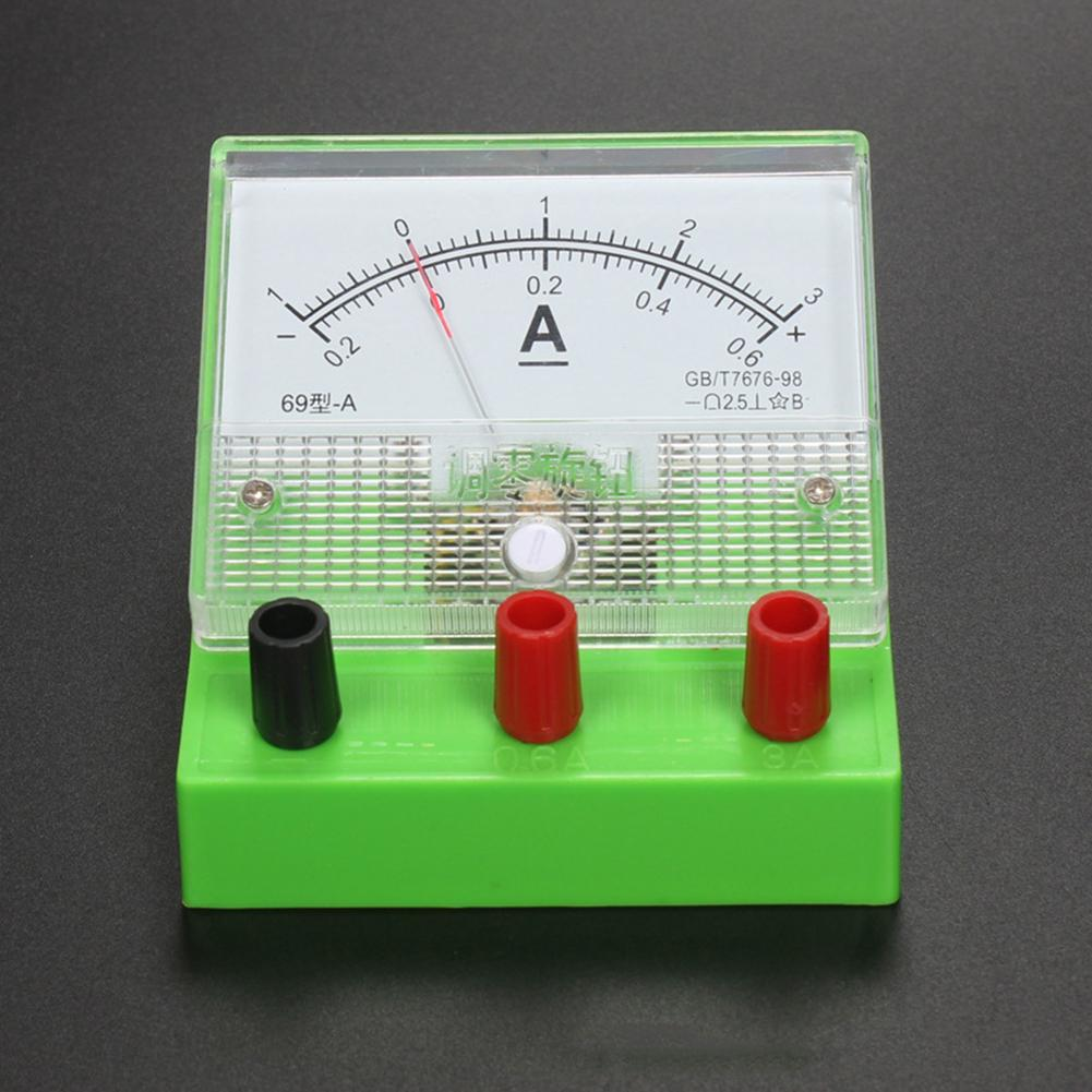 Analog Current Meter Ammeter Class 2.5 Electricity Teaching Experiment Tool Kids Educational Toys For Children Gift