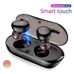 TWS4 Bluetooth 5.0 słuchawki bezprzewodowe słuchawki dotykowe Mini słuchawki douszne dla iPhone Samsung Huawei Xiaomi z etui z funkcją ładowania w Słuchawki douszne i nauszne Bluetooth od Elektronika użytkowa na