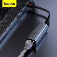 Baseus USB tipo C adattatore Ethernet USB-C A RJ45 adattatore Lan scheda di rete convertitore USB A 3.0 per Windows 10 Macbook Pro Switch