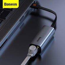 Baseus – adaptateur Ethernet USB Type C vers RJ45 Lan, carte réseau, convertisseur USB A 3.0 pour Windows 10 Macbook Pro Switch