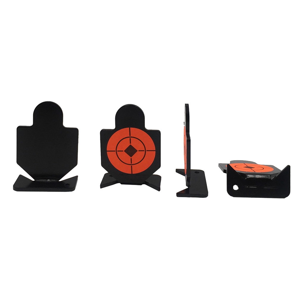 4 Pieces/Set Shooting Practice Targets Humanoid Silhouette Metal Aim Targets