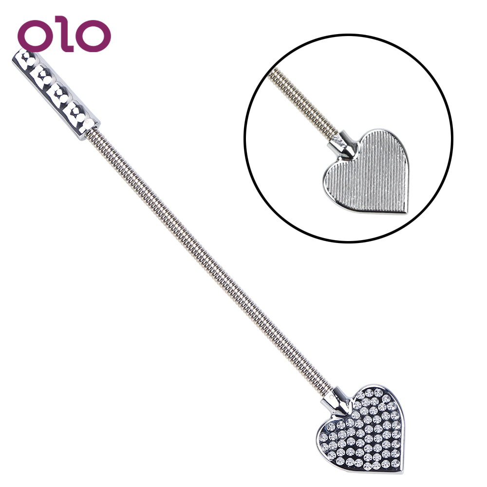 OLO Whip Handle Flogger Stainless Steel Sex Toy For Man Woman Role Play SM Spanking Bondage Slave Tool Bendable Couple Flirting