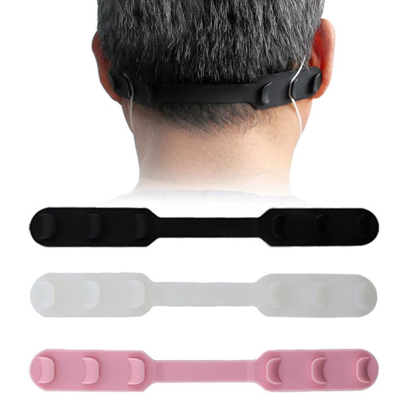 Face Mask Ear Hooks Buckle Soft Plastic Ear Band Extension Ear Protector Silicone Bandage Mask Hook Ear Rope Adjustment Buckle