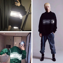 3M Reflection We11 Done Hoodies Men Women Korea Sweatshirts WeLL Stranger Things G-Dragon GD Hip Hop Hoodie