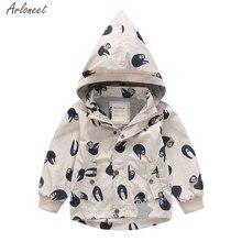 Детское пальто для маленьких мальчиков; пальто с капюшоном с рисунком животных; куртка; Верхняя одежда; ветрозащитная верхняя одежда; Верхняя одежда; Одежда для младенцев;