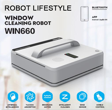 Household Smart Window Cleaner Robot Sweeper High Suction Wet Dry Wiping Smart Automatic Robotic Window Vacuum Cleaner RL880