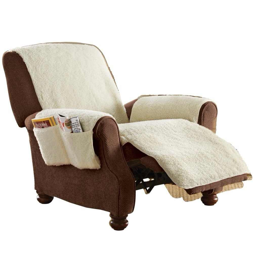 Recliner Poly Fleece Comfort Chair Seat Cover Snuggle Up Polyfleece Furniture Chair Lazy Boy Cover Stretch Couch Sofa cover