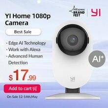 YI Home Camera1080p kamera Wifi inteligentne kamery wideo z wykrywaniem Montion kamera Ip aparat ochronny zabezpieczający Mini kamera kot domowy kamera dla psa