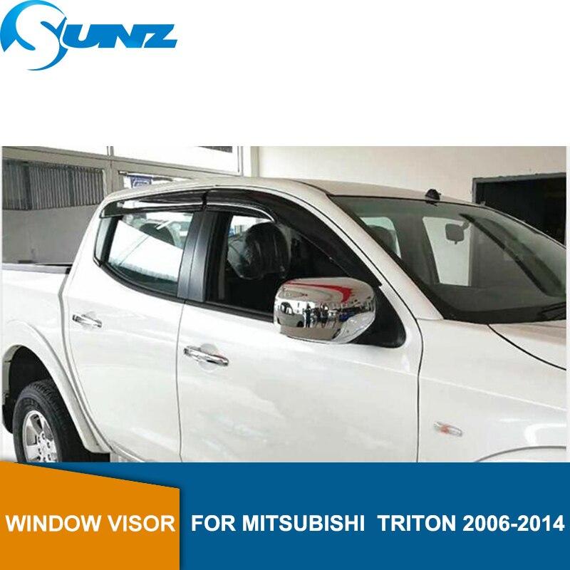Visera de puerta de coche para Mitsubishi triton 2006-2014 protectores de viento de astilla para Mitsubishi L200 2006-2014 accesorios de coche SUNZ