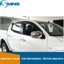 Car door visor For Mitsubishi  triton 2006-2014 sliver Wind guards L200 car accessories SUNZ