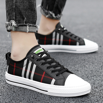 PARZIVAL Men Fashion Sneakers Fashion Mens Breathable Skateboard Shoes High Quality Trainers Shoes Casual Genuine Leather Shoes 3