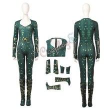 Mera костюм Аквамен Косплей Полный Набор Хэллоуин женский наряд
