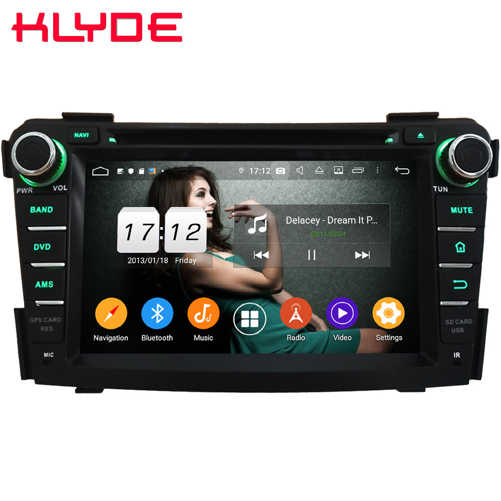 Klyde 4G WIFI Android 9 Octa Core 4GB RAM 64GB ROM DSP BT Car DVD Multimedia Player Radio <font><b>GPS</b></font> Glonass For <font><b>Hyundai</b></font> <font><b>I40</b></font> 2011-2016 image