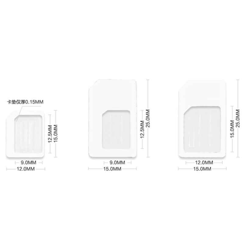 4 In 1 Convert Nano SIM Card To Micro Standard Adapter For iPhone For Samsung 4G LTE USB Wireless RouterW91A