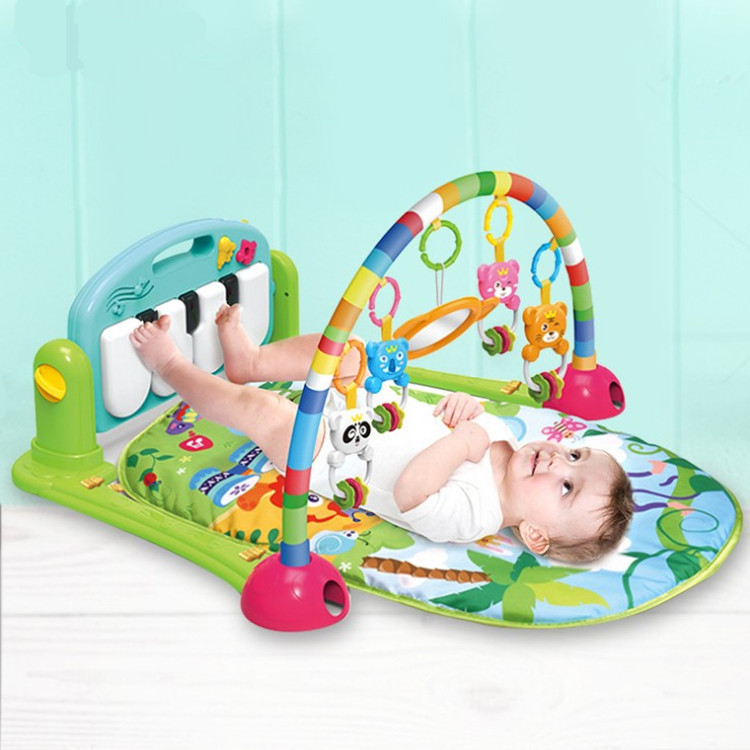 Infant Harmonium Fitness Rack Baby Music Game Blanket Baby Crawling Mat 0-12 Month Harmonium