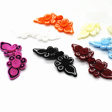 5Pairs Chinese Frog Closure Heart Buttons Fasteners Knot Five Beads Cheongsam Button Handmade Sewing Accessories Craft