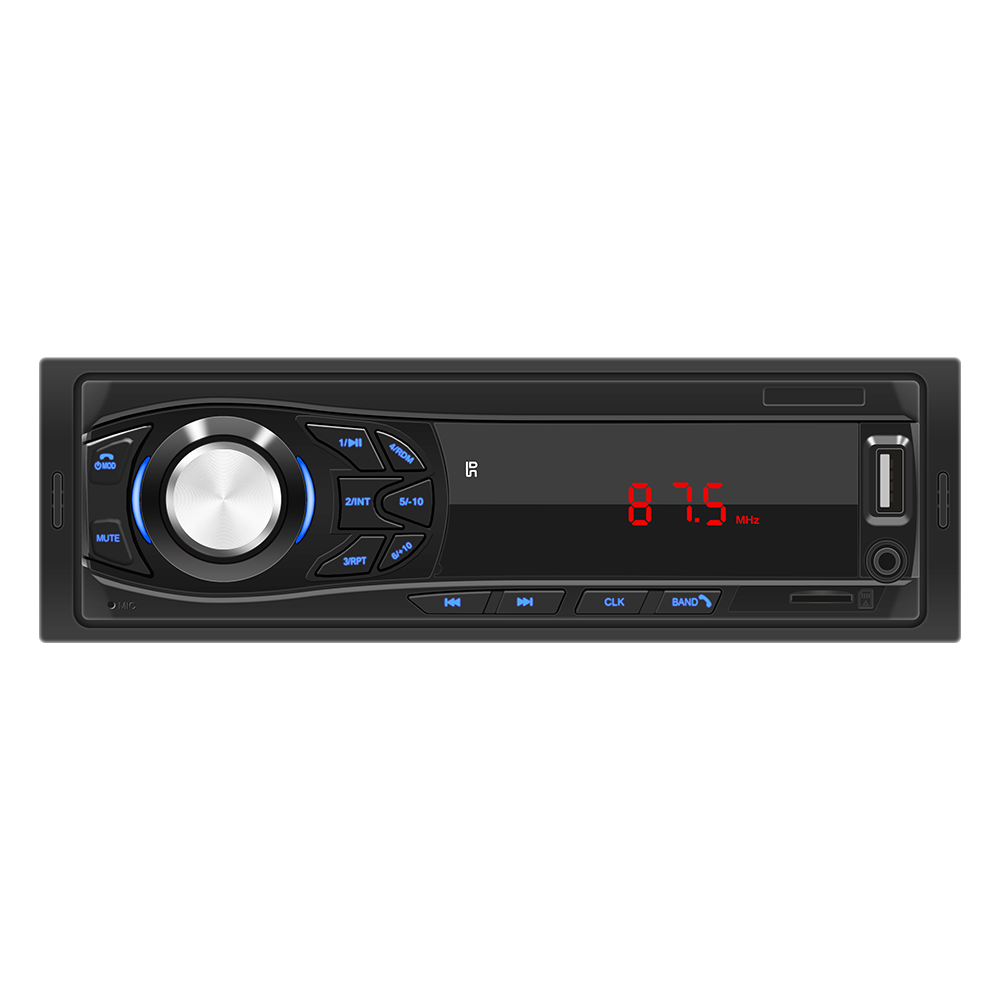 1 Din Universal Car Radio With LED Digital Display Bluetooth MP3 PLAYER Short Body USB TF CARD AUX 12V Audio Stereo Head Unit