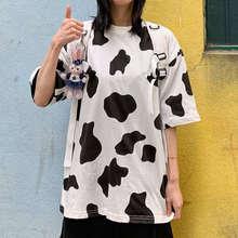 2020 модная футболка с молоком женская летняя свободная в стиле