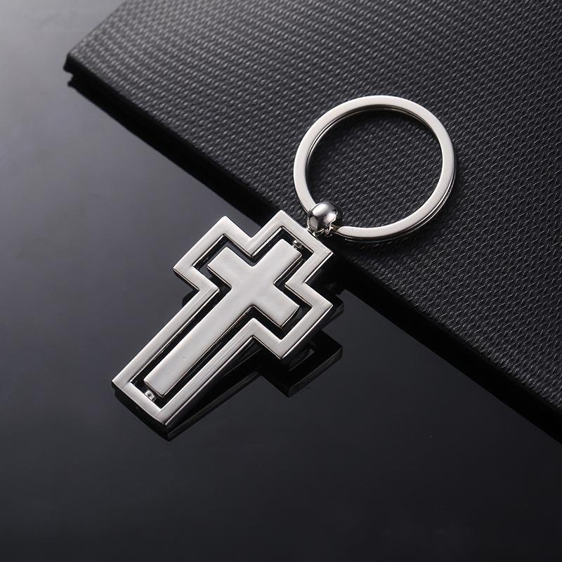 Cross Keychain Christian Catholic Religion Gift Cross Jesus Rosary Cross
