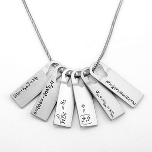 New Fashion Game Death Stranded Necklace Norman Reidus Physics Chemical Equation Choker Metal цепи Collier Nacelace for Student