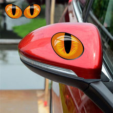 2pcs/Pair 3D Vinyl Decal Car Head Engine Cover Rearview Mirror Windows Decoration Cute Simulation Cat Eyes Car Stickers(China)