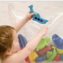 Childrens bathing water toy storage bag Baby mesh Suction cup Bathroom hanging 45*35cm
