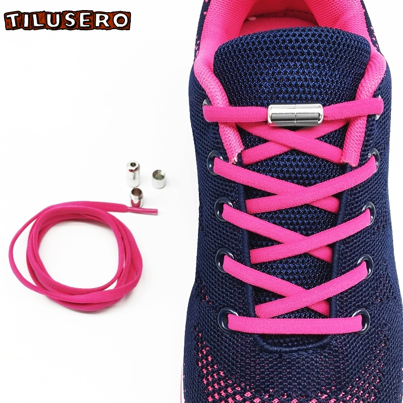 2pcs/lot No Tie Shoelace Elastic Lock Shoe Laces Kids Adult For Sneakers Quick Semicircle Shoelace Lazy Shoe Laces 12 Colors