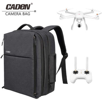 CADeN Drone Bag for Xiaomi mi DJI Business Travel Bag Waterproof Nylon with Rain Cover for Xiaomi Drone Backpack
