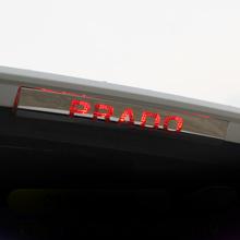 Tylne światło hamowania ze stali nierdzewnej osłona ramy wykończenie ochronne dla Toyota Land Cruiser Prado 150 FJ150 2010-2017 2018 2019 tanie tanio YaLumei 22cm For Toyota Prado 150 2011 2012 2013 2014 2015 2016 2017 2018 2019 Chrom stylizacja Stainless Steel 0 2kg Car Rear High Braking Light Frame Styling Cover