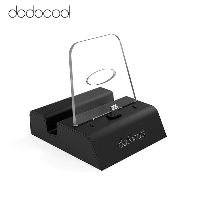 Dodocool Base de carga certificada por MFi, soporte de estación con conector de Audio de 3,5mm, Cable USB de 3,3 pies para iPhone Series