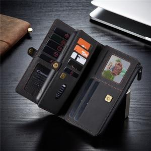 Image 2 - עור ארנק מקרה עבור iPhone 12 11 פרו XS Max XR X SE 2020 8 7 בתוספת ארנק כיסוי עבור סמסונג S20 הערה פה Ultra 20 A51 A71 Coque