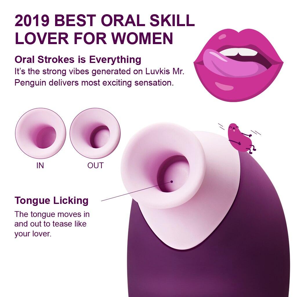 Luvkis Tongue Licking Vibrator Oral Clitoris Sex Vibrator For Female Nipple Clit Sucker Couple Massager 7