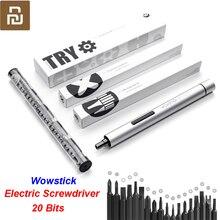 Orijinal Youpin Wowstick deneyin 20 in 1 elektrikli tornavida akülü güç ile çalışmak akıllı ev kiti