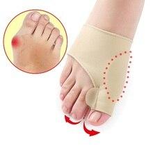 1 زوج = 2 قطعة فاصل أصابع القدم كبيرة أروح تصحيح الإبهام فرد تقويم العظام حصيرة باديكير جهاز ل أداة العناية بالقدم