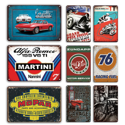 Garage Metal Poster Tin Sign Vintage Martini Metal Plaque Signs For Man Cave Bar Garage Decorative Plates Metal Wall Stickers