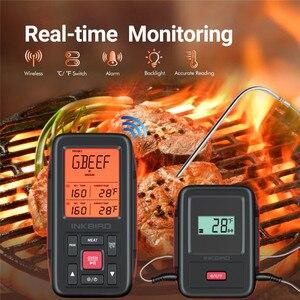 Image 5 - Inkbird מרחוק אלחוטי בית להשתמש RF מדחום IRF 2SA 500 רגליים לבישול מנגל גריל תנור מעשן עם שני מזון כיתה בדיקות