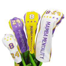 Free shipping golf head cover kobe  PU Leather golf club covers Driver Fairway hybird Putter Headcovers for golfer gift 1# 3#5#