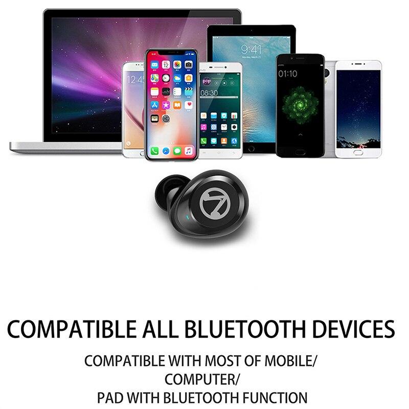 Waterproof TWS True Wireless Earphone Press Control Sport Headset Bluetooth Headphone Mini Earbuds for Stereo Music in Earphones from Consumer Electronics